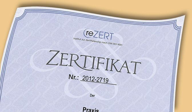 Iso Zertifikat nach DIN 9001