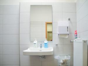 Die neue Toilette